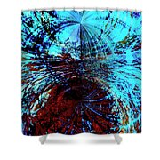 Red And Blue Shower Curtain