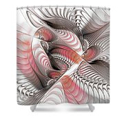 Red And Brown Shower Curtain