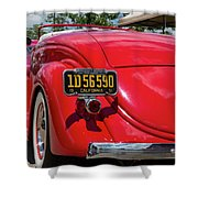 Red And Chrome Shower Curtain