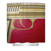 Red And Gold Gun  Shower Curtain