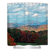 Red And Green Blue Ridge Mountains Shower Curtain