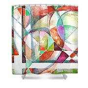 Red And Green Shower Curtain by Mindy Newman