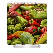 Red And Green Peppers Shower Curtain
