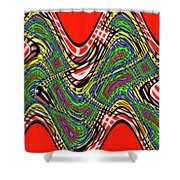 Red And Green Thing Shower Curtain
