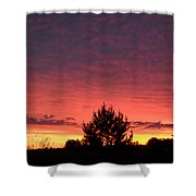 Red And Orange June Dawn Sky Shower Curtain