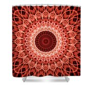 Red And Orange Mandala Shower Curtain