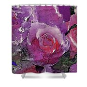 Red And Violet Roses Shower Curtain