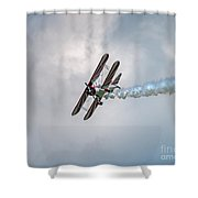 Red And White 2 Shower Curtain