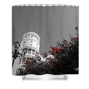 Red And White Contrast Shower Curtain