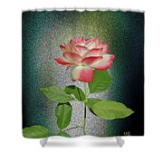 Red And White Rose5 Cutout Shower Curtain