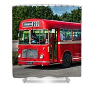Red And White Rs 167 - Bristol Resl6l #1 Shower Curtain