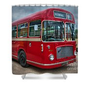 Red And White Rs 167 - Bristol Resl6l  #2 Shower Curtain