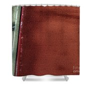 Red And White Stripe Shower Curtain