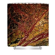 Red And Yellow Abstract Shower Curtain