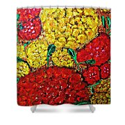 Red And Yellow Garden Shower Curtain