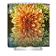Red And Yellow Reflection Shower Curtain