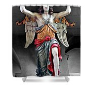 Red Angel One Shower Curtain