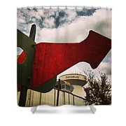 Red Arrow  Shower Curtain