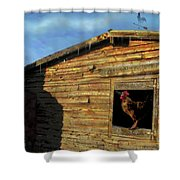 Red Arrow Corral Shower Curtain