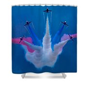Red Arrows At Airbourne 2010 Shower Curtain