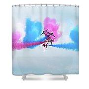 Red Arrows Break Shower Curtain