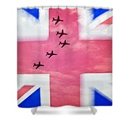 Red Arrows Flag Shower Curtain
