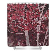 Red Aspen Shower Curtain