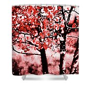 Red Aspen II Shower Curtain