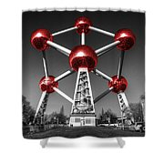 Red Atomium Shower Curtain