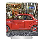 Red Morris Minor Shower Curtain