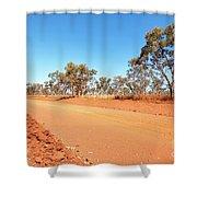 Red Australia Shower Curtain