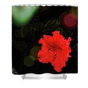 Red Azalea Shower Curtain