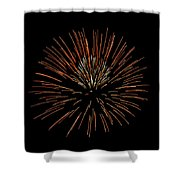 Red Ball Shower Curtain by Phill Doherty
