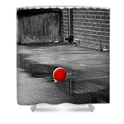 Red Balloon I Shower Curtain