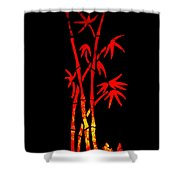 Red Bamboo Shower Curtain