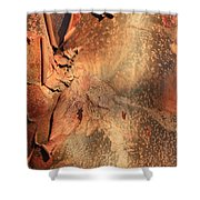 Red Bark Nature Abstract Shower Curtain