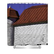 Red Barn Close Up Shower Curtain