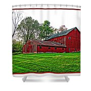 Red Barn In Ohio Shower Curtain