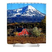 Red Barn In Paonia Colorado Shower Curtain