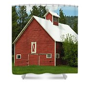 Red Barn Montana Shower Curtain