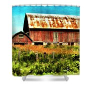 Red Barn No.1 Shower Curtain