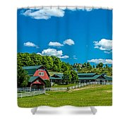 Red Barn On Hoyt Road Shower Curtain