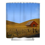 Red Barn Summer Shower Curtain