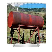 Red Barrel Shower Curtain