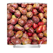 Red Bartlett Pears Shower Curtain