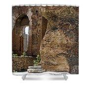Red Basilica Scene 5 Shower Curtain