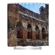 Red Basilica Scene 7 Shower Curtain