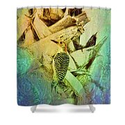 Red Bellied Dream Shower Curtain