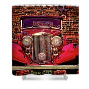 Red Bentley Convertible Shower Curtain