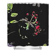 Red Berries And Foliage Shower Curtain